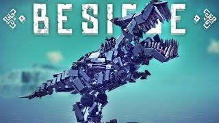 TRANSFORMING T-REX vs. TORNADOES!! | Besiege F*ckaround #5 | Environmental Madness!