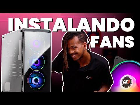 Como Instalar Fans RGB   Não deixa FAN batendo cabeça