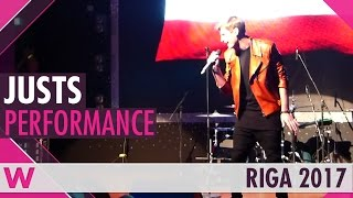 "Justs ""Heartbeat"" (Latvia 2016) LIVE @ Eurovision Pre-Party Riga 2017"