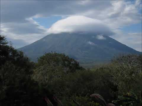 Clouds moving over Volcan Concepcion (timelapse)