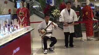 Shamisen ~three-string Japanese ROCK guitar. Traditional Japanese music.