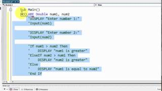 Visual Basic - Pseudocode to If-Else If-Else Conversion width=