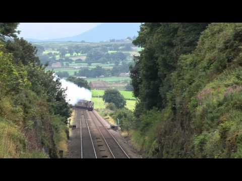 LNER A4 60009 The Cumbrian Mountain Express on the 18/8/12