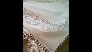 İğne Oyası Beyaz Namaz Başörtüsü videosu & Needle Lace & Crochet