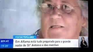 """Telejornal RTP - """"Até me Órino (...) é lindo!""""   - Festas populares"""