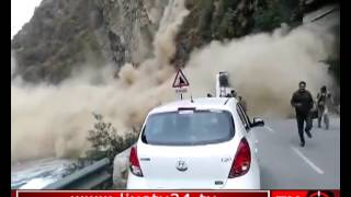 Live Video of Landslide at chandigarh Manali national highway India