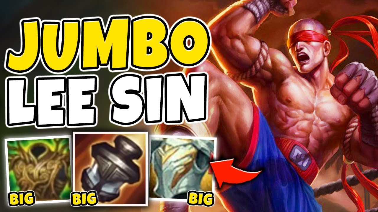 Heizman - WTF?! I WAS 4X THE SIZE WITH THIS TANK LEE SIN BUILD! BECOME ZEUS HIMSELF - League of Legends