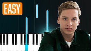"George Ezra - ""Shotgun"" 100% EASY PIANO TUTORIAL"