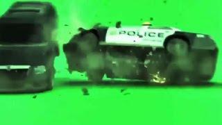 Green Screen Effect Cop Car Crash