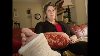 A broken Cleveland sidewalk leaves woman with broken ankle