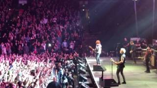 13 y-o kid fan plays with Green Day Live @ Not So Silent Night, 12-10-2016