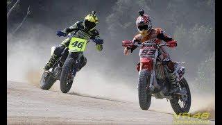 WAOW!!!! DUEL VALENTINO ROSSI VS MARC MARQUEZ |MotoCross