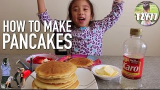 How to Make Easy Pancakes with 6yo Achilla | Cooking with Kids
