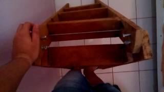 Escada  Dobrável de Madeira (articulated wooden staircase)