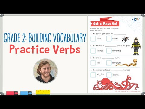 Practice Verbs - Building Vocabulary - Grade 2