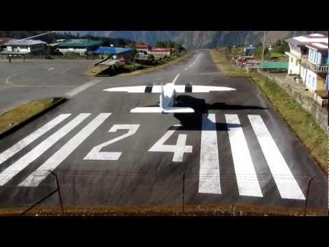 Airplane Start in LUKLA Everest Region – Nepal – Most dangerous Airport of the World