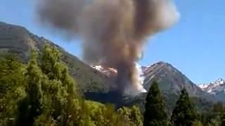 Cerrado el ingreso al Parque Los Alerces ahora por prevencion  La Villa NO corre peligro  Imagenes o