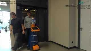 Autonomous Tour Guide Robot is Controlling the Elevator