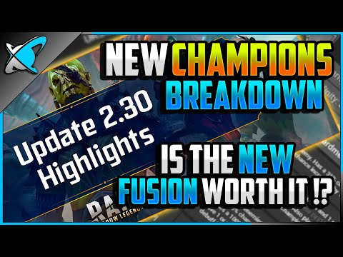 NEW CHAMPIONS... AGAIN | Halloween Fusion NOT Worth It !? | Patch 2.30 Highlights | RAID