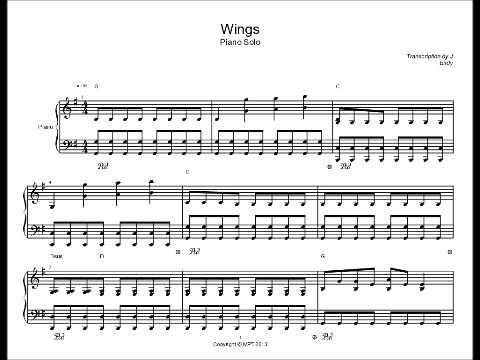Wings By Birdy Piano Solo Sheet Music Chords Chordify