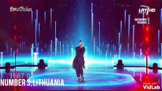 My Top 3 in the Eurovision Song Contest; Baltics