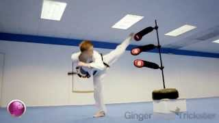 INSANE KICKS FROM MARTIAL ARTIST- EXERCISE CANDY APPAREL width=