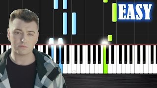 Sam Smith - Stay With Me - EASY Piano Tutorial by PlutaX - Synthesia