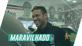 Neymar se surpreende com estrutura do Palmeiras