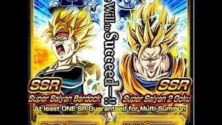 Dragonball Z Dokkan Battle SSJ Bardock & SSJ2 Goku Event Summoning