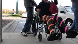 she got two broken legs Lt. dan. DLLC