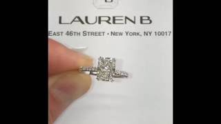 2 carat Elongated Radiant Cut Engagement Ring