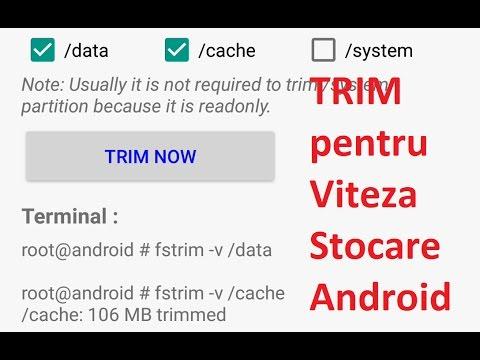 Telefonul este mai rapid după TRIM