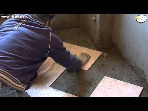 Come realizzare la posa diagonale delle piastrelle fai - Posa piastrelle fai da te ...