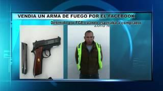 Vendía un arma de fuego por el Facebook