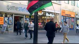libyan flag in liverpool