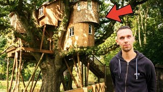 OUR LUXURY TREEHOUSE TOUR   LIVING IN A TREE 🌳🏠