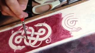 Painting a celtic border