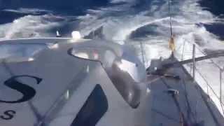 Day 7 Barcelona World Race: HUGO BOSS sending it downwind towards Cape Verde