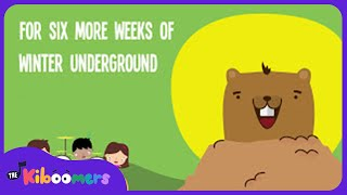 Groundhog Day for Kids | Groundhog Day Song | Lyric Video | The Kiboomers