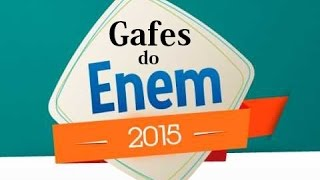 Gafes do Enem 2015