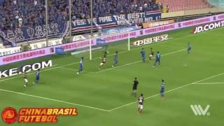 Gol Gervinho - Shanghai Shenhua x Hebei China Fortune - 19a rodada da Super Liga da China 2017