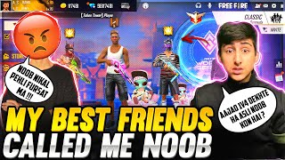 As Rana Playing 1Vs 4Clash Squad Match My Friends Called Me Noob  Garena Free Fire