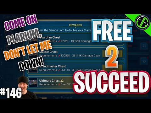 2 Nightmare Clan Boss Chests & A Dream... COME OOOON SACRED!! | Free 2 Succeed - EPISODE 146