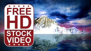 FREE HD video backgrounds | night sky with storm clouds and thunders and rain seamles loop