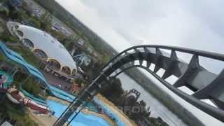 The Swarm Left Front Seat on-ride HD POV Thorpe Park