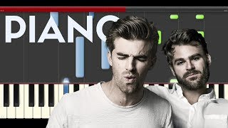 The Chainsmokers Paris piano midi tutorial sheet partitura cover app karaoke drumm