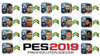 All GOLD to BLACK Ball Player Upgraded Ratings by KONAMI till 29/07/2018 || PES 2019