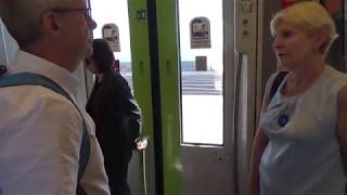 Catania, arrival by train from Palermo 16.10.2017