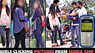 HOT Girls Clicking Pictures From NOKIA 1100 prank ( pranks in India)