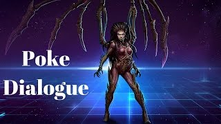 Kerrigan Poke Dialogue | All Quotes | Heroes of the Storm